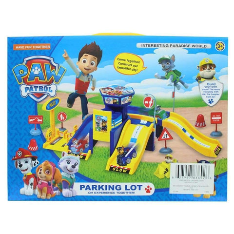 Paw Patrol Parking Lot Toy Set