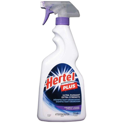 Hertel - Plus Extra Strength Disinfectant & Degreaser, Citrus and Lavender