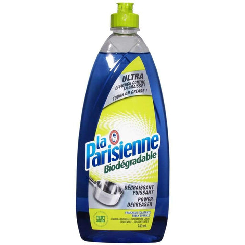 La Parisienne - Biodegradable Dishwashing Liquid, Power Degreaser