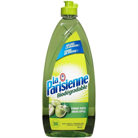 La Parisienne - Biodegradable Dishwashing Liquid, Green Apple