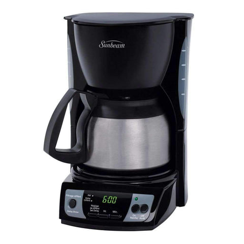 Sunbeam - Programmable 5 Cup Stainless Coffeemaker