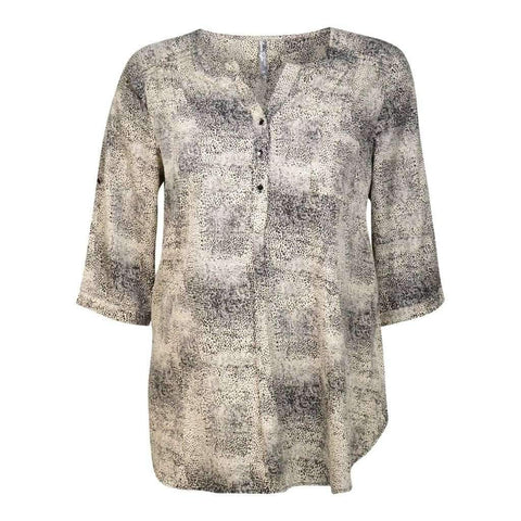 Ladies Blouse Printed 3/4 Sleeve Sizes-1X-2X-3X