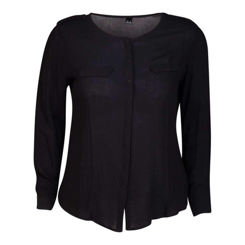 Ladies O/S Blouse Long Sleeves Polyester Georgette14 To 20