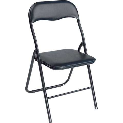 Chair Folding Padded Black