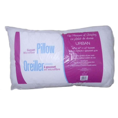 Urban Microfiber Gusset Pillow, 19x30