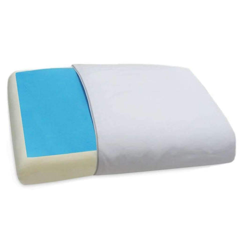 Memory Foam Pillow With Blue Cooling Gel