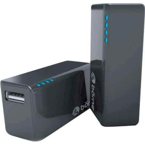 Borne - 2200mAh Portable Power Bank, Black