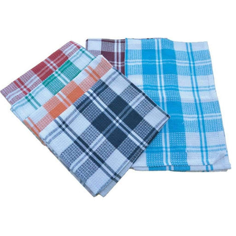 Tea Towel 18x26in Checkered Cotton
