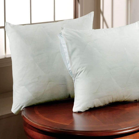 Pillow Protector Pair Antibacterial Standard White