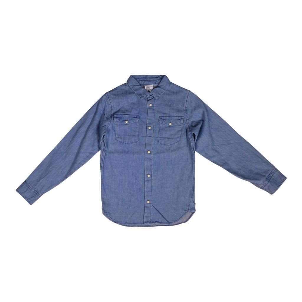 Boys 7-18 Denim Shirt Long Sleeves