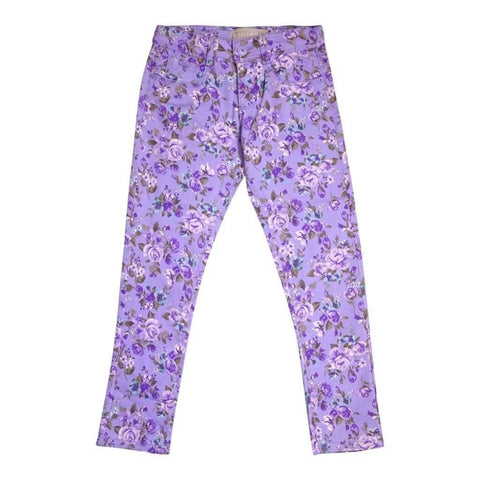 Girls 7-10 Pant 5 Pocket Stretch Twill Printed Assorted