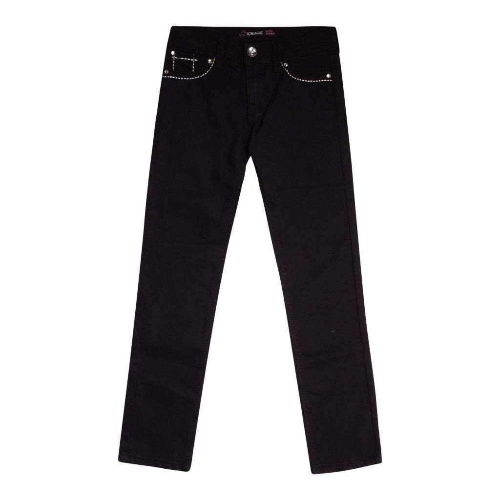 Girls 7-16 Pants Jordache Rami Cotton Polyspandex Black