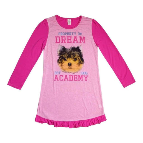 Girls 7-16 Sleepwear L/S Crewneck Bottom Shearing