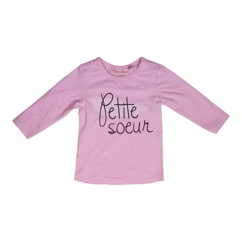 Infants Girls 6M-24M Top Long Sleeves With Front Prints