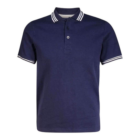 Mens Polo Shirt Short Sleeves Solid Color With Contrast Tipped Collard