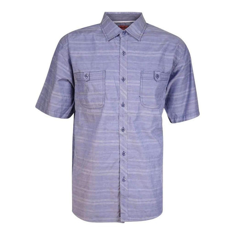 Mens Short Sleeves Shirt Polycotton Solid Striped