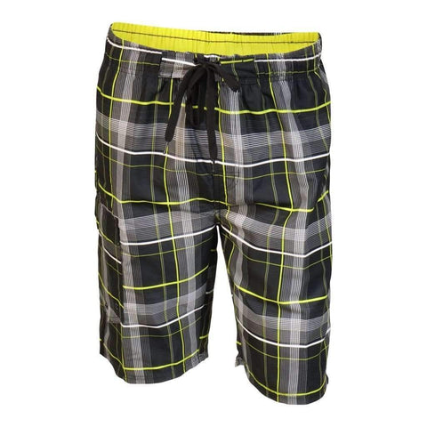 Mens Shortsboard Plaid Polymicrofiber