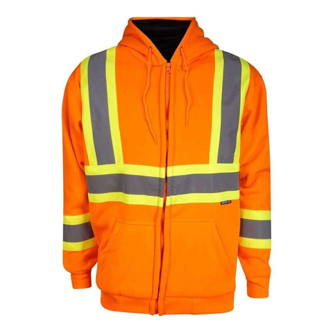 Mens Td Jacket Hi-Viz Lined Fleece