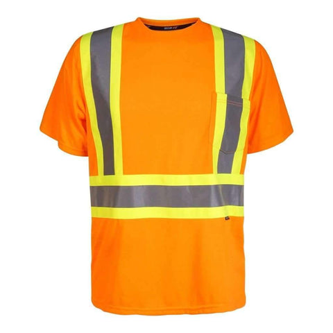Mens Short Sleeve Top Hi-Viz