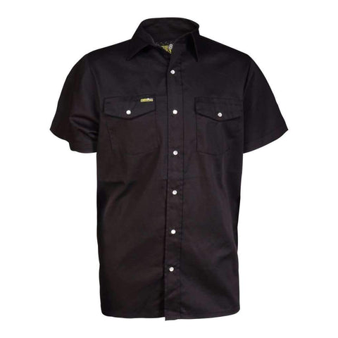 Mens Td Work Shirt With Short Sleeves And Button Front