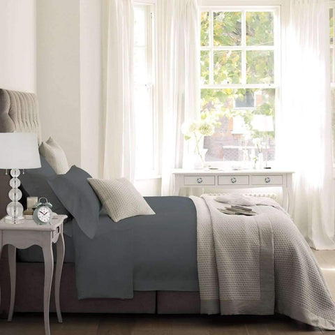 Blanc De Blanc - T1500 Cotton Rich Sheet Set, Grey, King