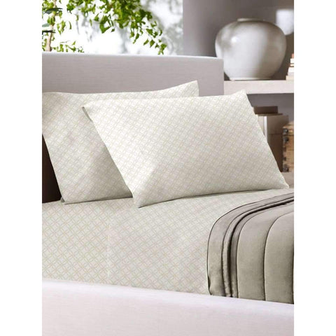 Sandra Venditti - T700 Cotton Rich Sheet Set, Ivory, Full