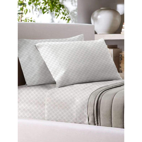 Sandra Venditti - T700 Cotton Rich Sheet Set, White, Full