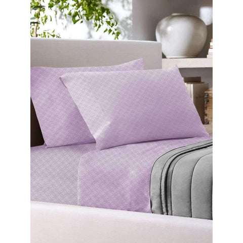 Sandra Venditti - T700 Cotton Rich Sheet Set, Mauve, Full