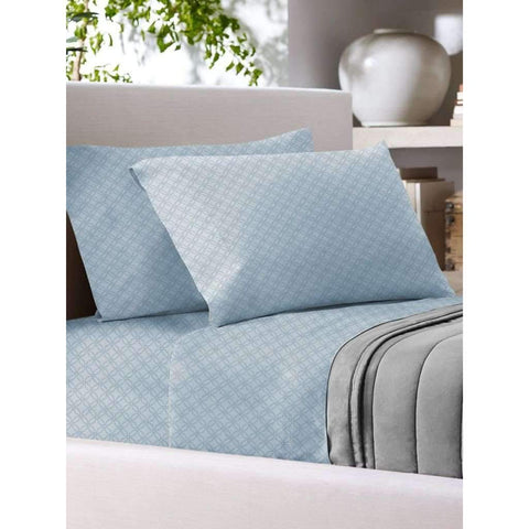 T700 Cotton Rich Sheet Set F Blue Printed