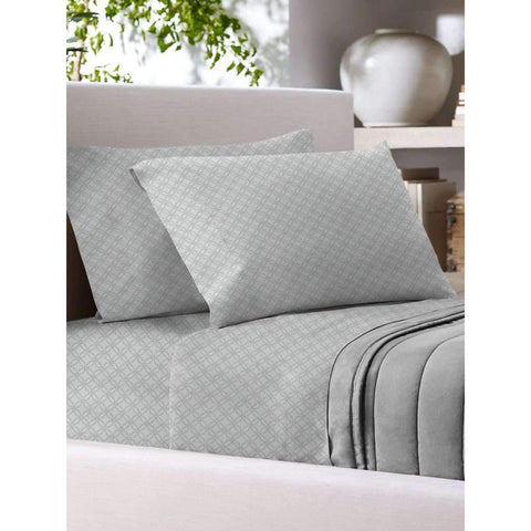 T700 Cotton Rich Sheet Set F Grey Printed