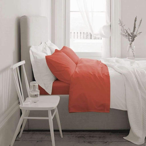 Blanc de Blanc - T1000 Cotton Rich Sheet Set, Coral, King