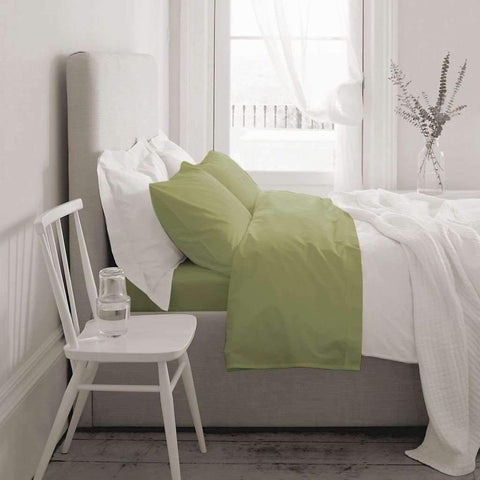 Blanc de Blanc - T1000 Cotton Rich Sheet Set, Light Green, Queen