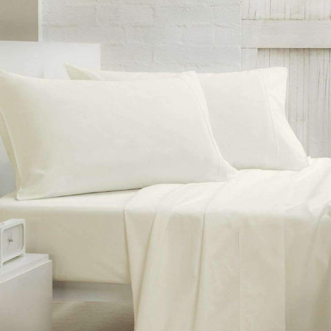 Lauren Taylor - 400 Thread Count Cotton Sheet Set, Off-White, Full