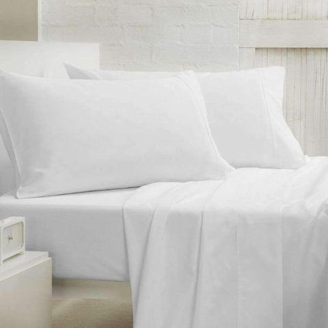 Lauren Taylor - 400 Thread Count Cotton Sheet Set, White