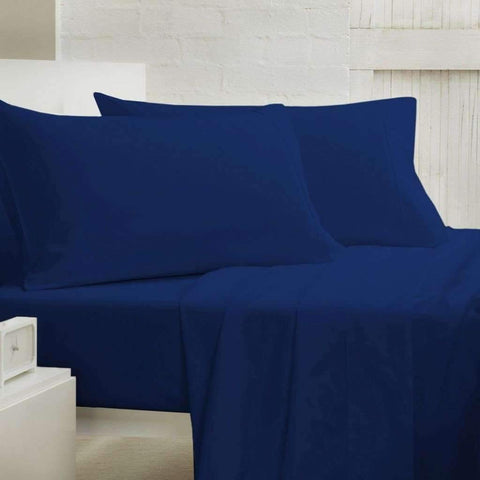 Lauren Taylor - 400 Thread Count Cotton Sheet Set, Blue