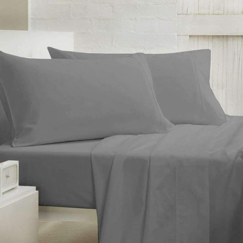 Lauren Taylor - 400 Thread Count Cotton Sheet Set, Charcoal, Full