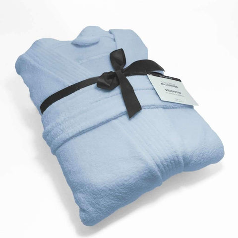 Studio 707 - Short Micro Fleece Bathrobe, Blue
