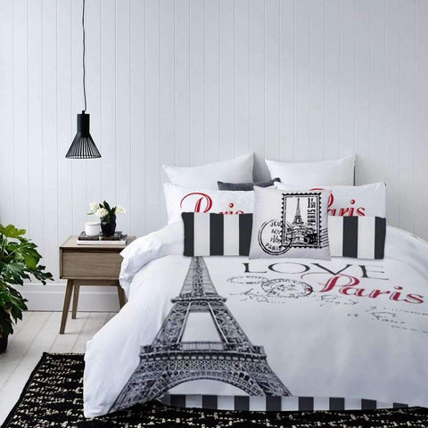 Lauren Taylor - Paris 7 Piece Microfiber Comforter Set, Twin