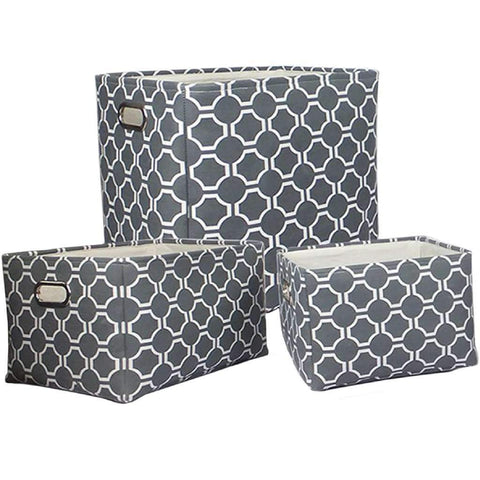 Storage Baskets Fabric - 11X9X8IN - Grey
