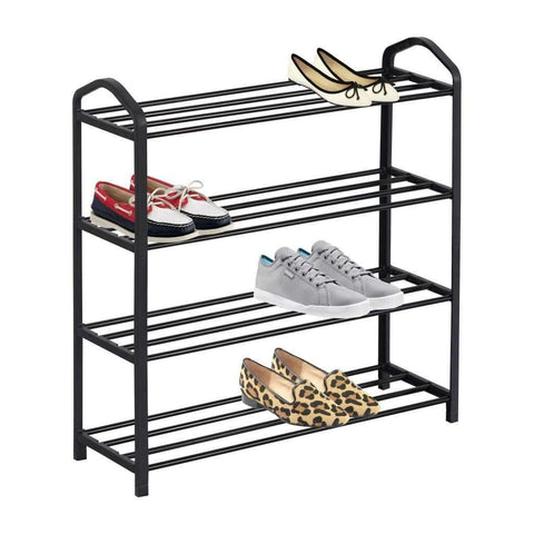 Studio 707 - 4 Tier Shoe Rack, Black