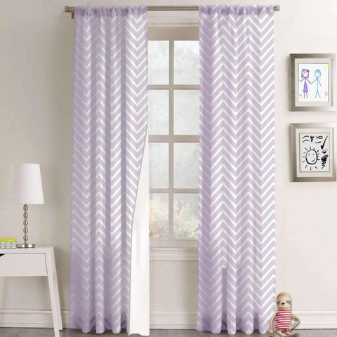 Lauren Taylor - Juvenile Chevron Foamback Rod Pocket Panel 42x63