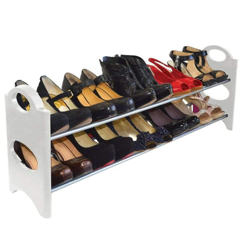 Studio 707 - 10 Pair Shoe Rack, White