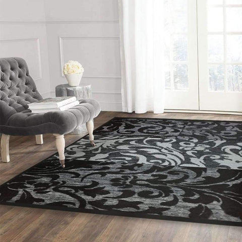 Adrien Lewis - Renfrew Distressed Carpet, Black