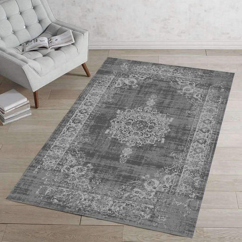 BOSWORTH AREA RUG - GREY 3X4 FT