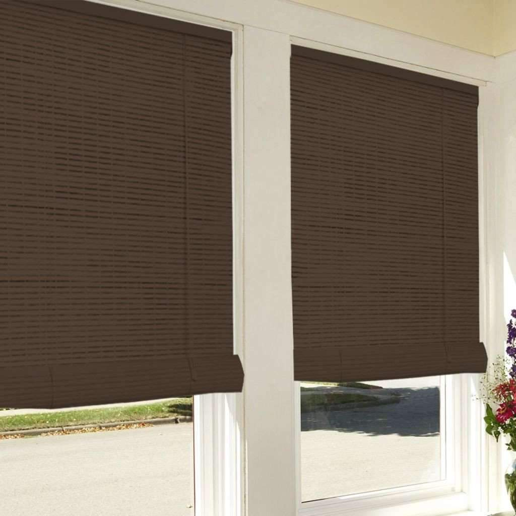 Studio 707 Bamboo Look Roll Up Blinds 72x72 Brown Hart Stores