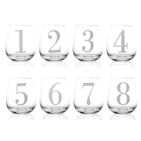 Whisky Glass Numbered Set Of 8
