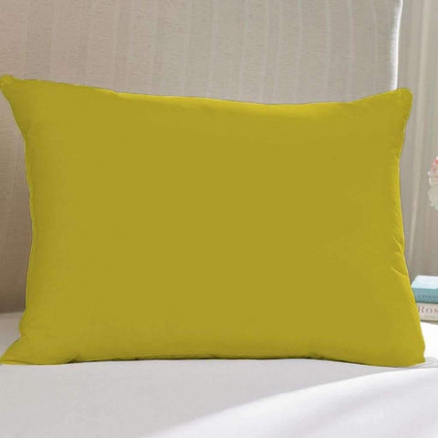 Adrien Lewis - Microfiber Feather Pillow, Yellow