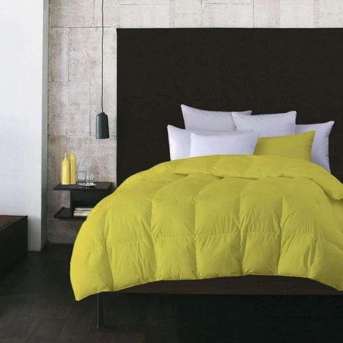 Adrien Lewis - Microfiber Feather Duvet, Yellow