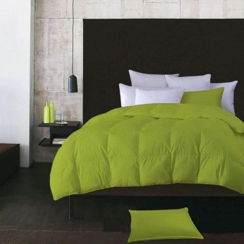 Adrien Lewis  - Microfibre Feather Duvet, Light Green