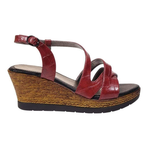 Ladies Sandals With Sling Back & Wedge Hell